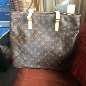Louis Vuitton monogram cabas mezzo bag